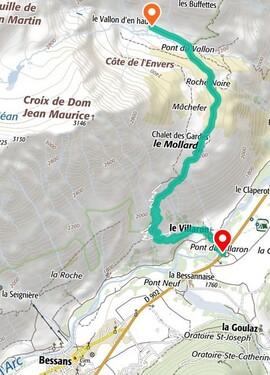 Plan de situation alpage du Vallon