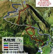 © Plan des pistes Bike Park Croix de Fer et Mountain Kart - <em>OT SSA</em>