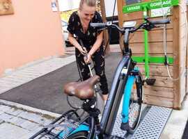 Borne d'entretien vélo