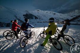 Descente VTT sur neige et Fat Bike