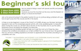 Beginner's ski touring