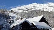 © chalet sous la neige - <em>s bonfils</em>