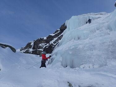 © cascade de  glace - <em>Gaboriau X</em>