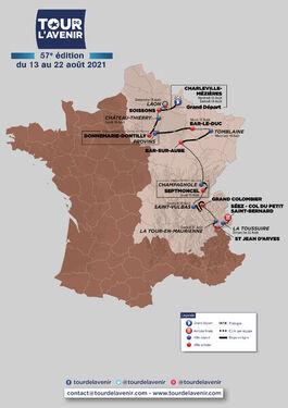 Parcours Tour de l'Avenir 2021
