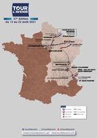 Départ de la dernière étape du Tour de l'Avenir 2021