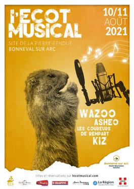 © Affiche Festival l'Ecot Musical 2021 - <em>HMVT/Mathilde Cecillon</em>