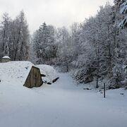 © Sous la neige - <em>Fort de Tamié</em>