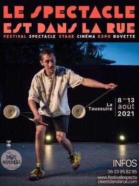 """Affiche Festival """"Le Spectacl esst dans la rue"""" @LaToussuire"""