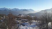 © Vue hiver - <em>@Camping du Col</em>